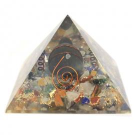 Orgonita Pirámide 60Mm - Modelo: Tortuga