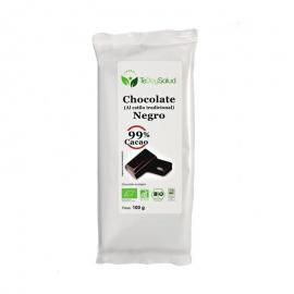 Chocolate Negro Ecológico (99% Cacao) 100Gr. Tedoysalud