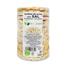 Tortitas de Arroz Sin Sal Ecológicas 100Gr. Sin Gluten Tedoysalud