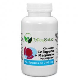 Cápsulas Vegetales Colágeno + Magnesio + ácido Hialurónico 90 Uds. 740 Mg. Tedoysalud