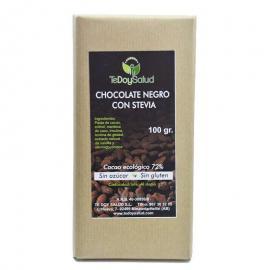 Chocolate Puro 72%  Con Stevia 100 Gr. Tedoysalud