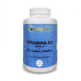Vitamina D3 + K2 Con Calcio y Fósforo - 120Cápsulas  - Tedoysalud